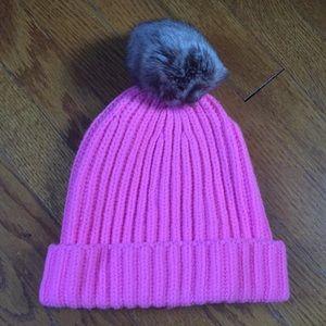 J. Crew pink hat